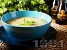 Рецепта Вкусна пилешка супа с месо от бутчета, естрагон, картофи и фиде и застройка от кисело мляко и жълтък